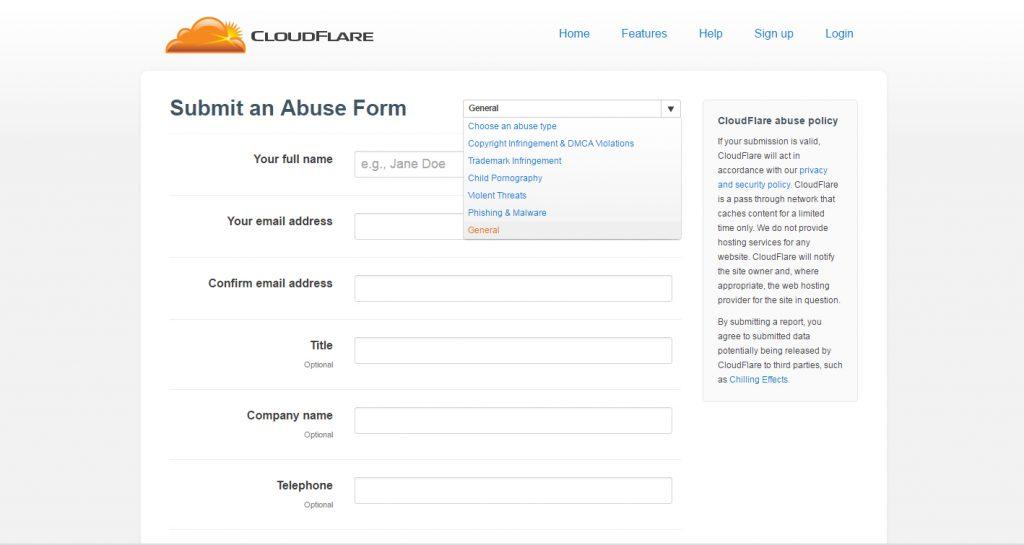 Cloudflarereportabuse