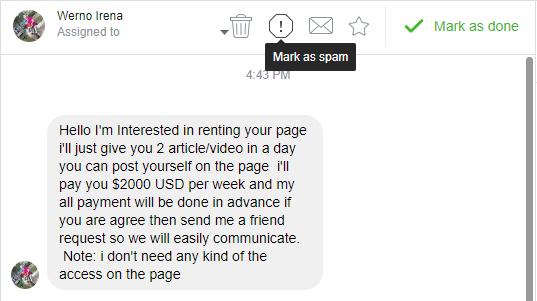 Facebook Page Hack 1