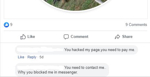 Facebook Page Hack 3