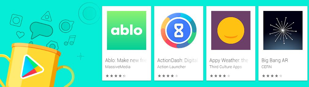 Screenshot photo of the Google Play's Best of 2019 Apps