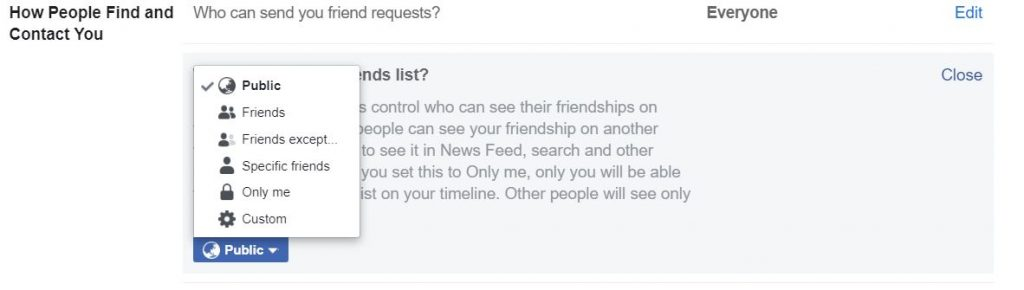 """A screenshot consists mostly of text from New Facebook. This photo is for the """"How to Hide Friends in Facebook"""" blog in TechToGraphy."""