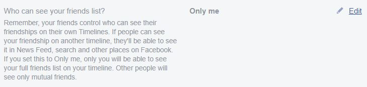 """A screenshot from Classic Facebook, highlighting the words """"Only Me."""" This photo is for the """"How to Hide Friends in Facebook"""" blog in TechToGraphy."""