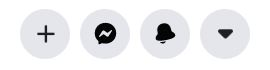 """A screenshot of white icons from New Facebook. This photo is for the """"How to Hide Friends in Facebook"""" blog in TechToGraphy."""