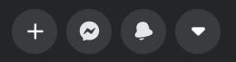 """A screenshot of dark icons from New Facebook. This photo is for the """"How to Hide Friends in Facebook"""" blog in TechToGraphy."""