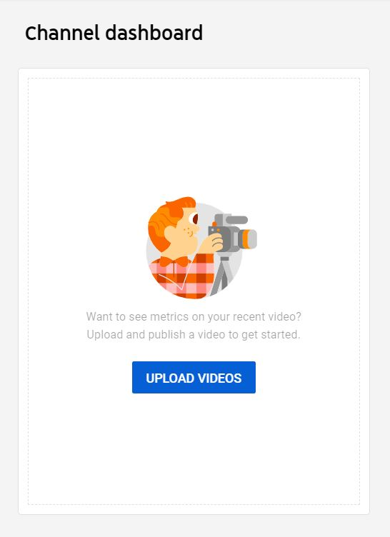 """A screenshot of UPLOAD VIDEOS icon of YouTube. This photo is for the """"How to Upload Videos on YouTube?"""" blog post of TechToGraphy."""