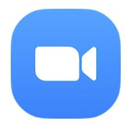 """A screenshot of the logo of Zoom from Google Play. The logo is mostly color blue with an icon of camera in the middle. This photo is for the """"How to Use Zoom"""" blog of TechToGraphy."""