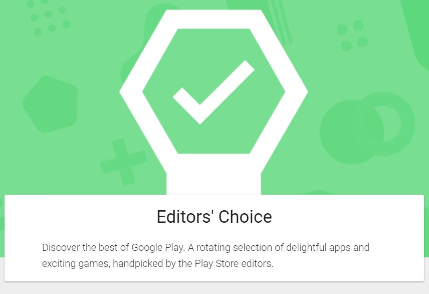 """There is a big green check icon placed in the middle of this picture. Below the check icon are the words """"Editor's Choice"""""""